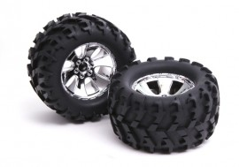 904-015 - PNEUS COM RODAS OFF-ROAD P/ TRUCKS 1/8 - SEXTAVADO 12mm